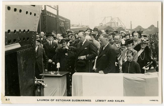 Alice ja August Torma allveelaevade Lembit ja Kalev avamistseremoonial juulis 1936. aastal: Foto: Eesti Meremuuseum