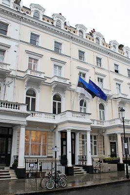 Eesti saatkond Londonis 44 Queen's Gate Terrace. Foto: Thiago Jesus, välisministeeriumi arhiiv