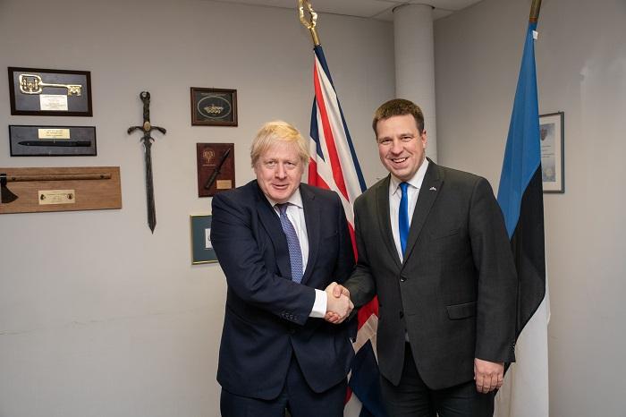 2019 Johnson ja Ratas. Foto: välisministeeriumi arhiiv