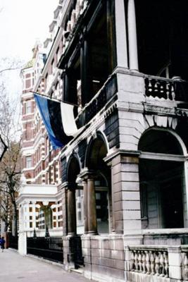 Eesti saatkonnahoone Londonis aastatel 1919-1989. Foto: Välisministeeriumi arhiiv